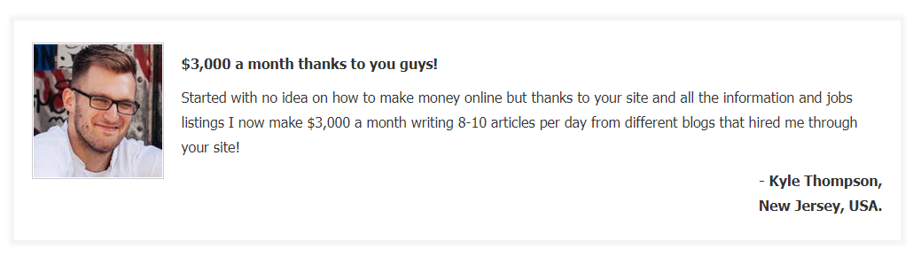 writing job online